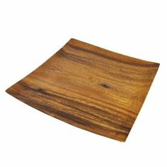 """Acacia Wood Square Plate 12"""" by Naturally Med. $29.99."""