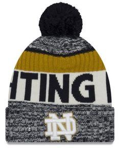 43dd406e995 New Era Notre Dame Fighting Irish Sport Knit Hat - Blue Adjustable Knit Hat  For Men