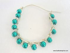Crisscross Wired Earrings with Beads