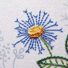 Back of Embroidery: 3 Tips for Keeping it Neat - When it Matters! Embroidery Designs, Embroidery Stitches Tutorial, Simple Embroidery, Hand Embroidery Patterns, Embroidery Techniques, Ribbon Embroidery, Cross Stitch Embroidery, Quilt Patterns, Art Patterns