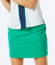 "If you're in the market for some new outfits, consider our women's apparel! Shop this comfortable and stylish NANTUCKET (Emerald) Belyn Key Ladies Keystone Jersey 18¾"" Outseam Pull On Golf Skort   from Lori's Golf Shoppe."