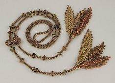 Knot Just Beads Presents: Phoenix Feathers Lariat - herringbone & right angle weave. Bead&Button Show Class Seed Bead Tutorials, Beading Tutorials, Phoenix Feather, Beaded Jewelry Patterns, Lariat Necklace, Beaded Flowers, Etsy, Seed Beads, Handmade Jewelry