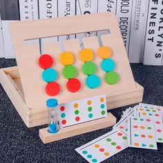 4 color puzzle game for children – mowzod Maria Montessori, Montessori Toys, Montessori Education, Learning Toys, Early Learning, Puzzles, Color Puzzle, Logic Games, Wooden Baby Toys