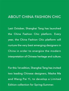 Masha Ma for Shanghai Tang