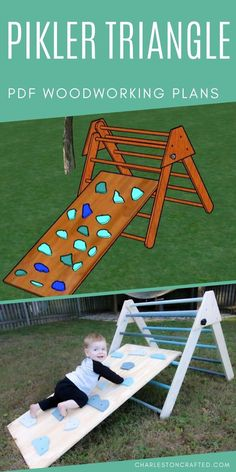 Want to build a DIY pikler triangle? This montessori toy is super popular for babies, toddlers, and kids of all ages. This toy is perfect for your backyard or playroom! Get these modifiable PDF printa Kids Outdoor Play, Kids Play Area, Backyard For Kids, Diy For Kids, Diy Outdoor Toys, Childrens Outdoor Toys, Kids Yard, Outdoor Play Areas, Outdoor Baby