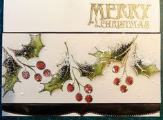 Merry Christmas by Micheline Jourdain - Cards and Paper Crafts at Splitcoaststampers