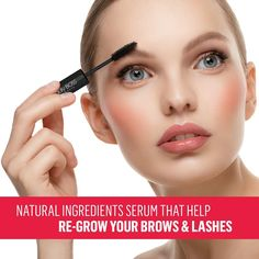 Reveal the real beauty of your eyes. Transform weak, uneven and sparse hairs into healthy-looking beautiful full eyelash and eyebrow growth serum that works. Long Thick Eyelashes, Thick Brows, Natural Eyelashes, Eyeliner, Eyebrows, Eyebrow Makeup, Best Eyebrow Products, Beauty Products, Tinted Brow Gel