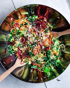 Hyper Rainbow Salad   Find your pot of gold using Paleo Paddock in Australia USA London and random rainbow locations.  Repost @cocomamasjuices  We've just finished making up this beauty for you all to come & grab for lunch! Our organic & raw Rainbow Salad is waiting to nourish you this Sunday. Jam packed with kale cos cucumber red bell pepper celery spiralised beet zucchini & carrot. Topped with sesame seeds pine nuts & served with a side of our epic Basil Aioli.  Open till 4-30pm today…