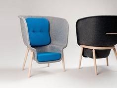Pod Devorm - Pressed recycled PET felt, acoustic privacy chairs - Benjamin Hubert