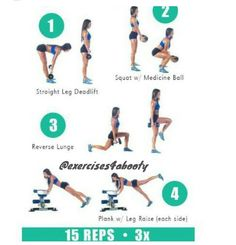 workout, butt, and fitness image Lifting Workouts, Gym Workouts, At Home Workouts, Workout Routines, Straight Leg Deadlift, Lunge, Squat Workout, Curvy Workout, Mental Training