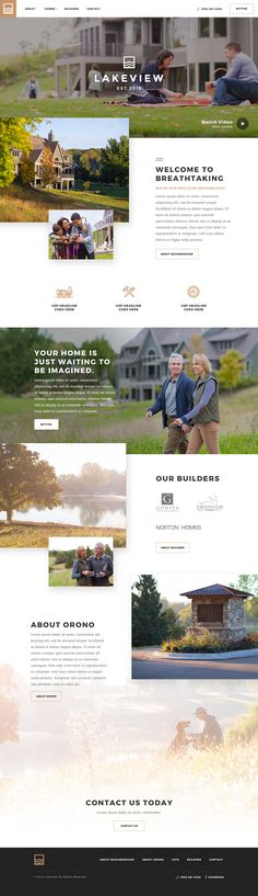 Neighborhood Development Site on Behance