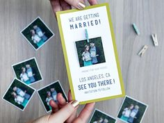 Clever Wedding Save-the-Date Ideas: Instagram Magnets >> http://www.diynetwork.com/decorating/wedding-save-the-date-and-engagement-announcement-ideas/pictures/page-4.html?soc=pinterest