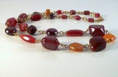 Autumn Red Jewellery Set by Michelleshandcrafted on Etsy