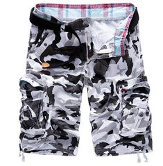 Rebelsmarket camouflage multi pocket cargo loose shorts men shorts and capris 7