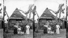 """Check out the stereographs posted for CA+T's Spring 2018 online exhibition: """"Empire's Eyes: Colonial Stereographs of the Philippines."""" Stereographic images courtesy of the California Museum of Photography. Image: """"A Filipino Home Near Manila,"""" c. 1898-1930. Visit the exhibition: www.centerforartandthought.org. #filipinoamerican, #filipinohistory, #historyofphotography, #blackandwhitephotography, #history, #photography, #philippines #postcard #vintage #stereography"""