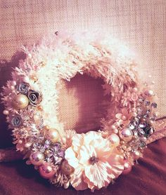 Christmas Wreaths, Floral Wreath, Holiday Decor, Home Decor, Christmas Garlands, Homemade Home Decor, Holiday Burlap Wreath, Decoration Home, Floral Garland