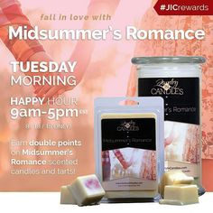 Happy Tuesday! Fall in #love with Midsummer's #Romance and earn DOUBLE POINTS today until 5pm EST.  #jicbyjulie #jicrewards #happyhour #tuesday #rewards #regrann #repost