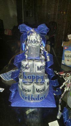 Beer cake arrangement #modelo #arrangement                                                                                                                                                                                 More