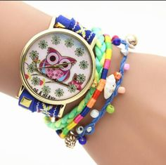 Owl Multilayer Bracelet Watch