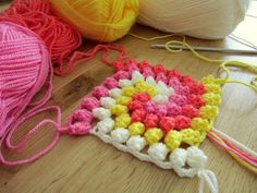 Granny Bobble Spiral - I do not like these colors but this would be another great stash buster for placemats, pot stands etc.