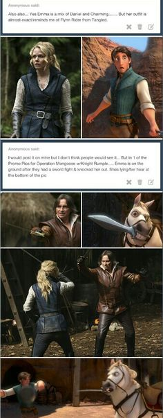 Are you trying to tell me rumple is a horse?! Because you have a very convincing argument, my dear.