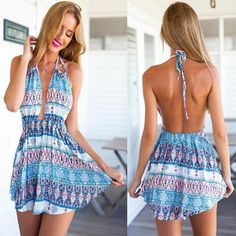 ByChicStyle Multicolor Floral Print Backless Tie Back Mini Dress online with cheap prices and discover fashion Mini Dresses,Dresses,Midi Dresses,Women Dresses,Fashion Dresses,Cheap Dresses,Fashion Dresses.Dress at ByChicStyle.com