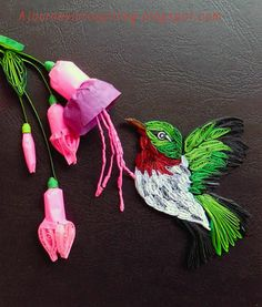 Journey into Quilling & Paper Crafting: Quilled Humming Bird Closeup