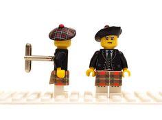 Scottish Highlander cuff links. Cufflinks made with LEGO(R) bricks. Wedding, gift, birthday, graduation, groomsman... This must be my most re-pinned pin! Too funny!