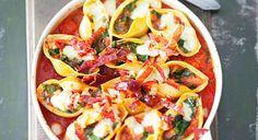 Conchiglioni farcis aux épinards et mozzarella