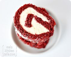 Red Velvet Cake Roll with Cream Cheese/White Chocolate Icing...