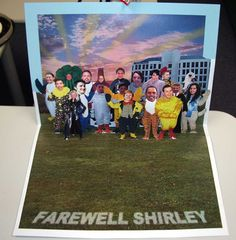 A pop-up farewell card for Shirley, a very popular work colleague. (2005)