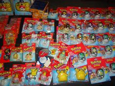 HUGE Pokemon Lot of toys/figures/candy/plush/key chains MOST sealed! Vintage