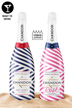 This is the third year that @ChandonUSA , a French Champagne house in Napa Valley, has added playful and patriotic pops of red, white and blue stripes to add pizazz to your summer entertaining bar. The Brut is nautically-chic in blue, and its sister Rosé version features the same crisp, classic stripes in a vibrant pink. Available Memorial Day through Labor Day. $22-$24. Brut minis also available. $8.