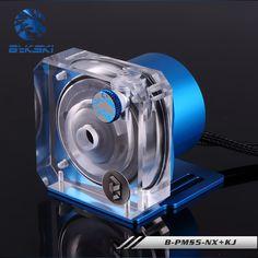 Bykski PWM Automatic Speed Control Pump Water Cooling System Maximum Flow 1100L/H Compatible D5 Pump 5 Colors Cover B-PMS5-NX #Affiliate