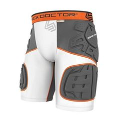 Shock Doctor Youth Ultra Shockskin Extended Thigh Impact Shorts WhiteGrey Medium -- More info could be found at the image url. (This is an affiliate link) Football Pads, Flannel Suit, Padded Shorts, Mens Shoes Boots, Motorcycle Leather, Converse Men, Sport Shorts, Online Shopping Stores, Body Armor