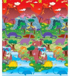 Playmat Prince Lionheart dwustronna mata edukacyjna farma dinozaur
