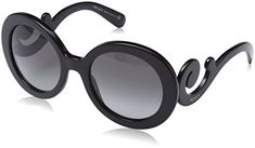 Prada PR27NS Sunglasses-1AB/3M1 Black (Gray Gradient Lens)-55mm