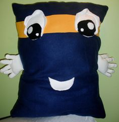 Blue Yellow and White, Large Fleece Novelty Youth/Teen  Hug Me Pillow. $39.99, via Etsy.