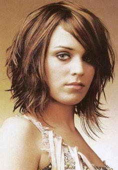 medium short layered haircuts - Google Search