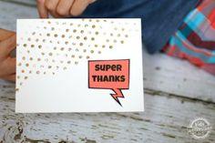 kids DIY thank you note idea  - DIY Mod Podge Rocks Peel & Stick Stencils #plaidcrafts #modpodge #modpodgerocks #crafts