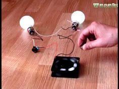 "Free Energy Magnet Motor fan as Free Energy Generator ""Free Energy"" light bulb New"