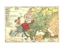 Map - Europe - Linguistic map 1907  (vintage map website for printing out craft-worthy maps)