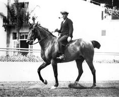Del Mar Racetrack: A familiar sight at Del Mar in the early years was Bing Crosby, pipe in place and typically casual, on horseback.