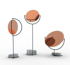 Copper Mirror Series by Norwegian born  Hunting & Narud. Available through London-based Gallery Libby Sellers