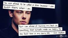 Finn Hudson #Quotes #Glee