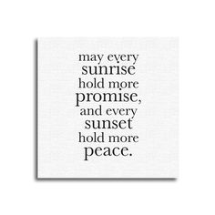 """""""Every Sunrise"""" Canvas Print 12X12 – Quotrly #quotes"""