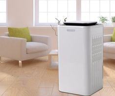 Smart Touch Screen Small Dehumidifier With Air Purify Big Water Tank
