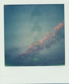 cotton candy clouds #polaroid photography #px680 #impossible film #slr 680