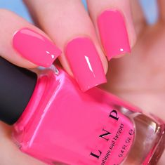 Neon Pink Nail Polish, Opi Polish, Metallic Nail Polish, Holographic Nail Polish, Neon Nails, Bio Sculpture Nails, Cream Nails, Accent Nails, Glitter Nails