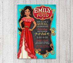 Elena de Avalor invitación para fiesta de cumpleaños | Princesa de Disney | Archivo digital, DIY, imprimir archivo JPEG para imprimir